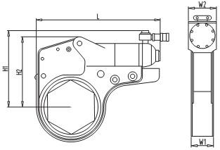 超薄中空式液压扭矩扳手示意图图片